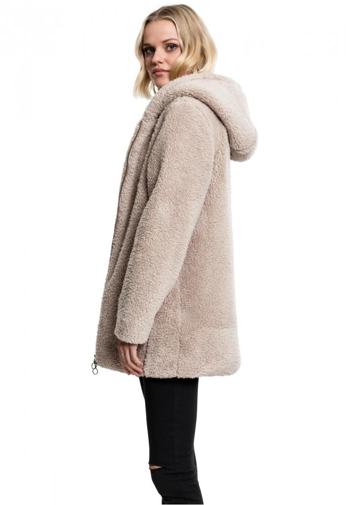 Jacheta pufoasa Sherpa pentru Femei bej Urban Classics