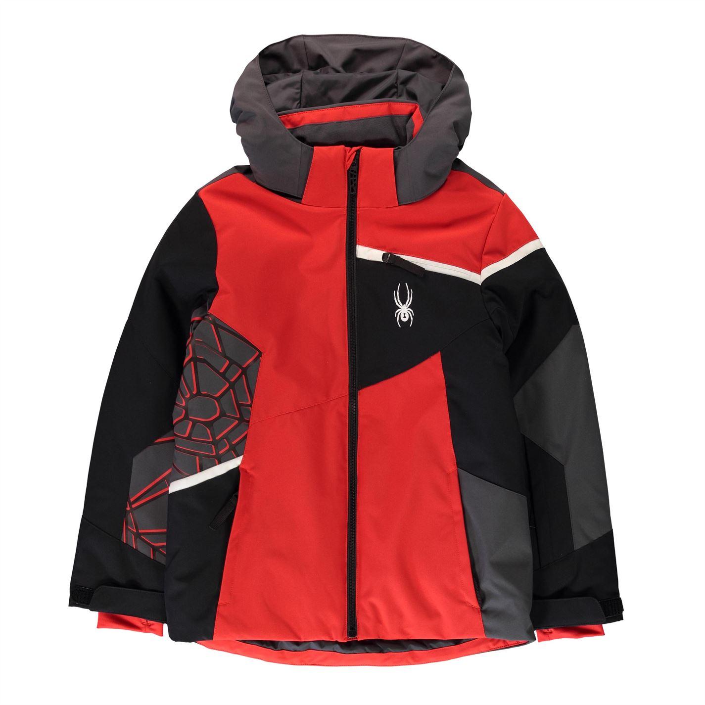 Jacheta Spyder Challenge pentru baietei rosu negru