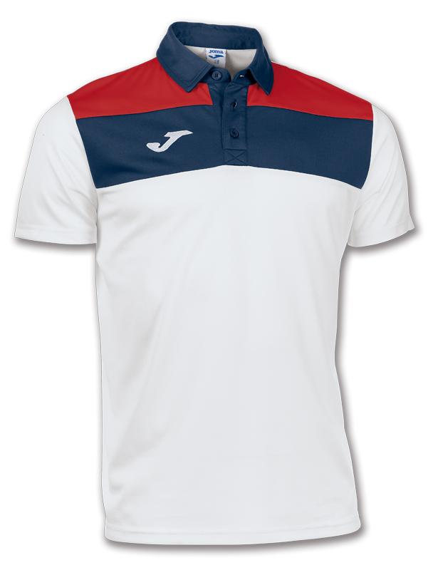 Joma Tricou Polo Crew alb-bleumarin cu maneca scurta