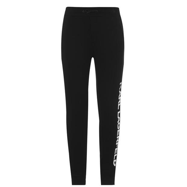 Pantaloni jogging KARL LAGERFELD Logo negru 09b