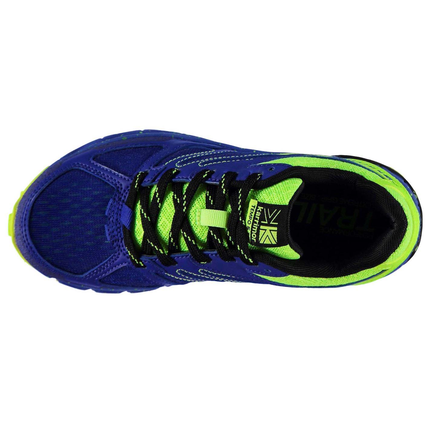 Adidasi alergare Karrimor Tempo 5 pentru baieti albastru verde lime
