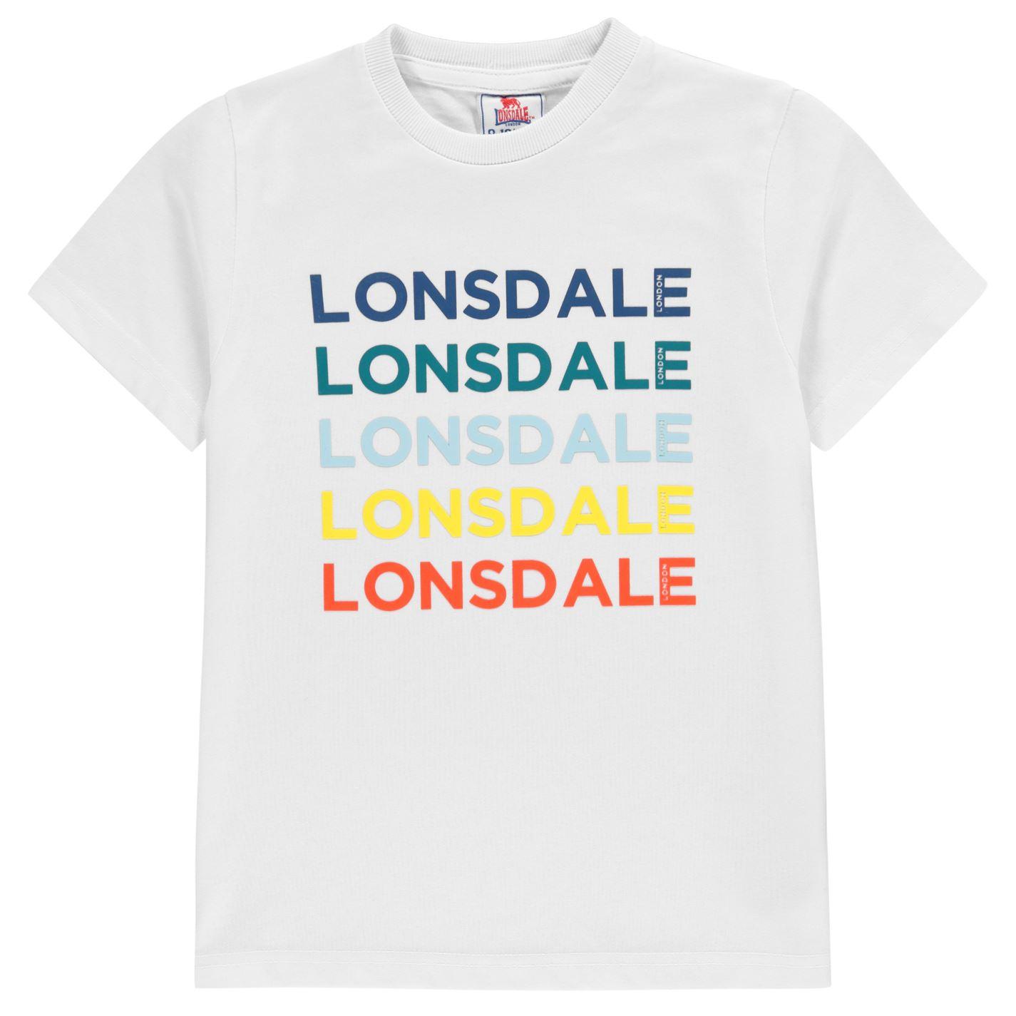 Mergi la Tricouri sport Tricou cu logo Lonsdale Rainbow - pentru baietei alb
