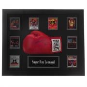 Manusi Team Ray Leonard Signed Boxing