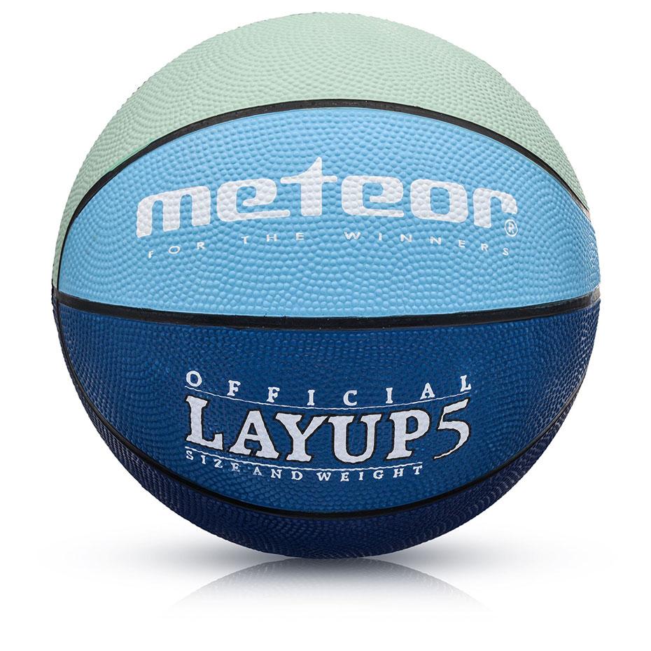 Mergi la Mingi de Baschet Meteor LayUp 5 albastru-bleumarin-verde 07084