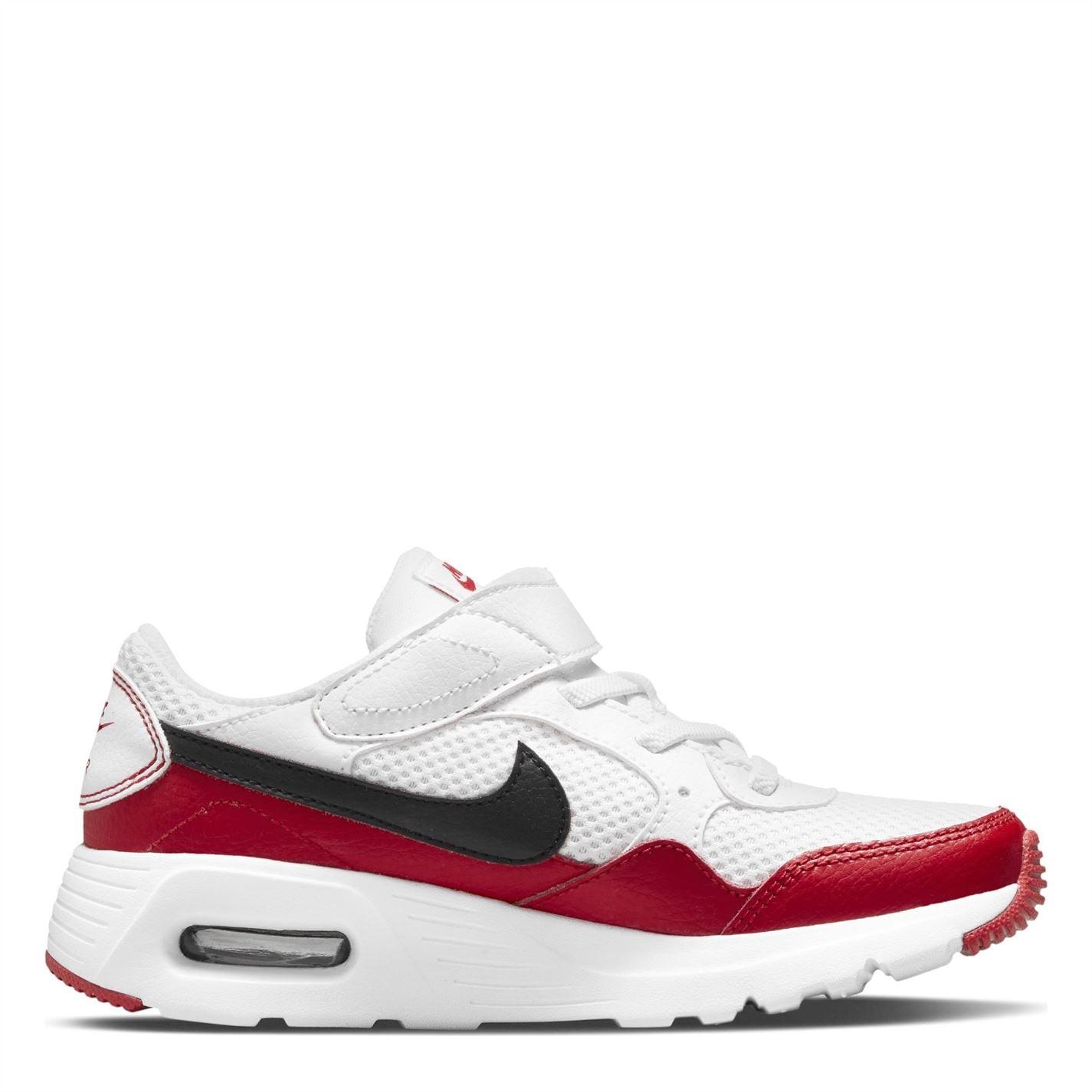 Nike Air Max SC Little Shoe pentru Copii alb negru rosu