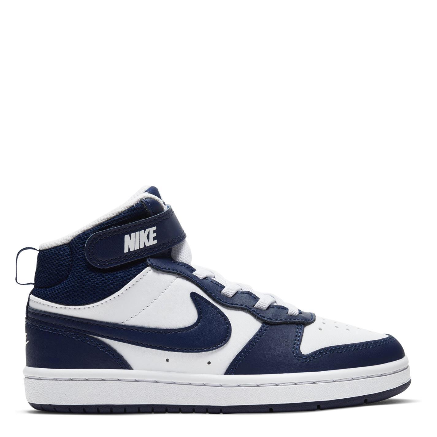 Nike Court Borough Mid 2 Little Shoe pentru Copii alb albastru