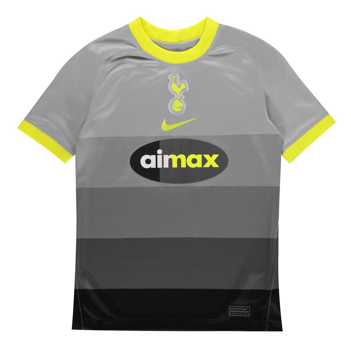 Mergi la Nike Hotspur Stadium Shirt pentru copii argintiu lemon