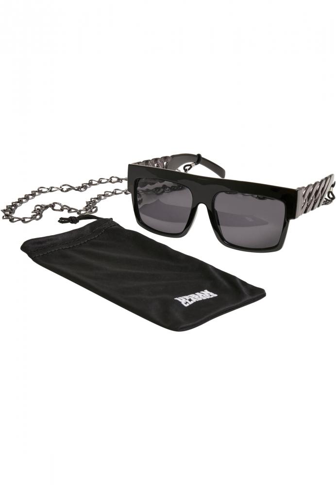 Ochelari de soare Zakynthos cu lant negru-argintiu Urban Classics