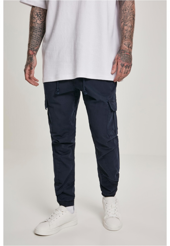 Pantaloni cargo lungi bleumarin Urban Classics