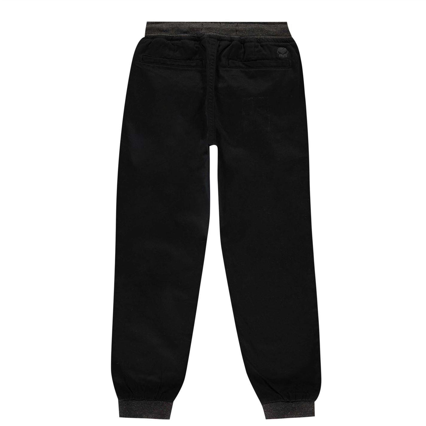 Pantaloni chino No Fear Ribbed Waistband pentru baietei verde negru