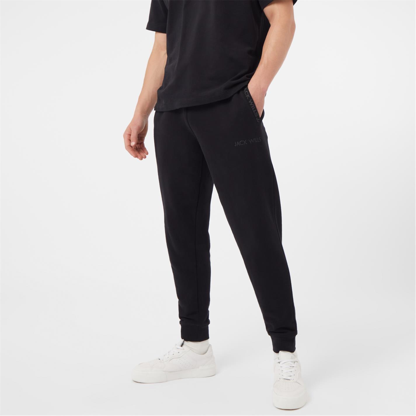 Pantaloni jogging Jack Wills Jacquard negru