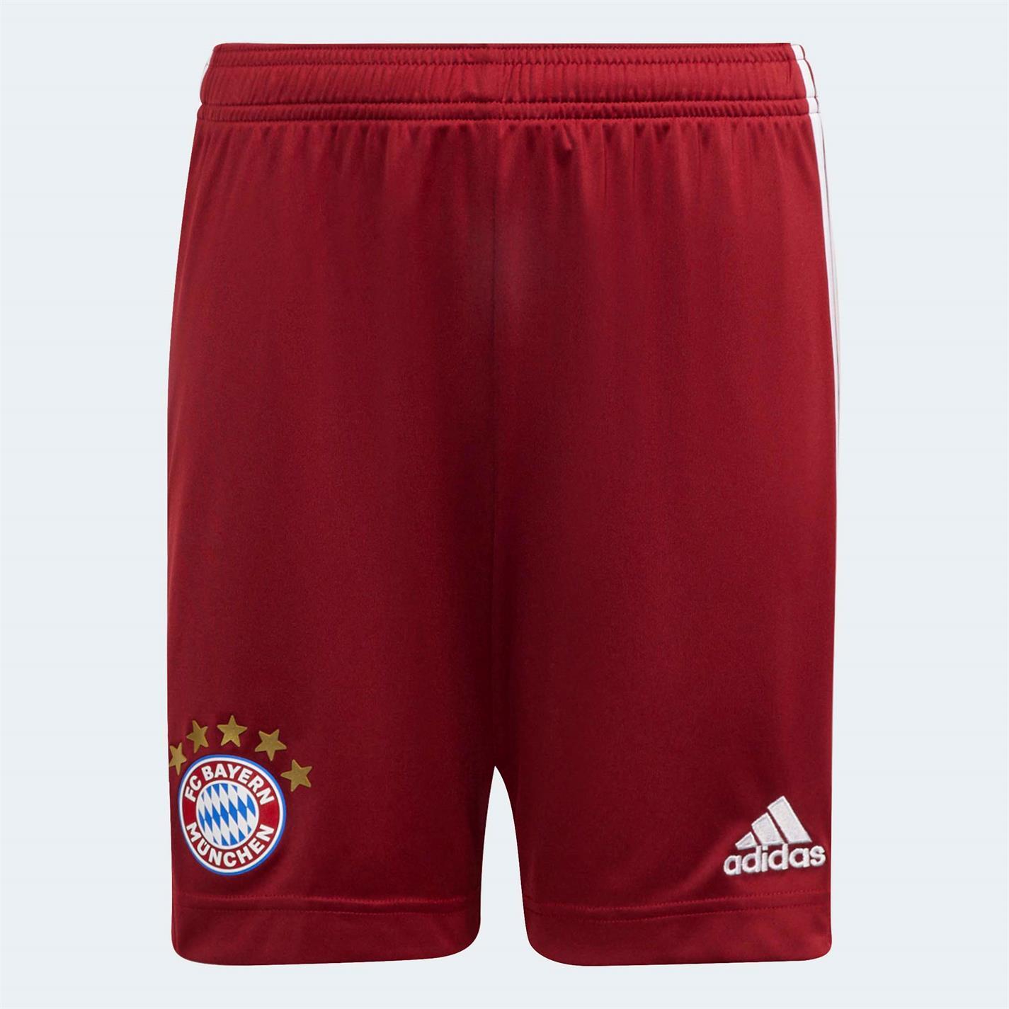 Pantaloni scurti adidas Bayern Munich Acasa 2021 2022 pentru copii rosu
