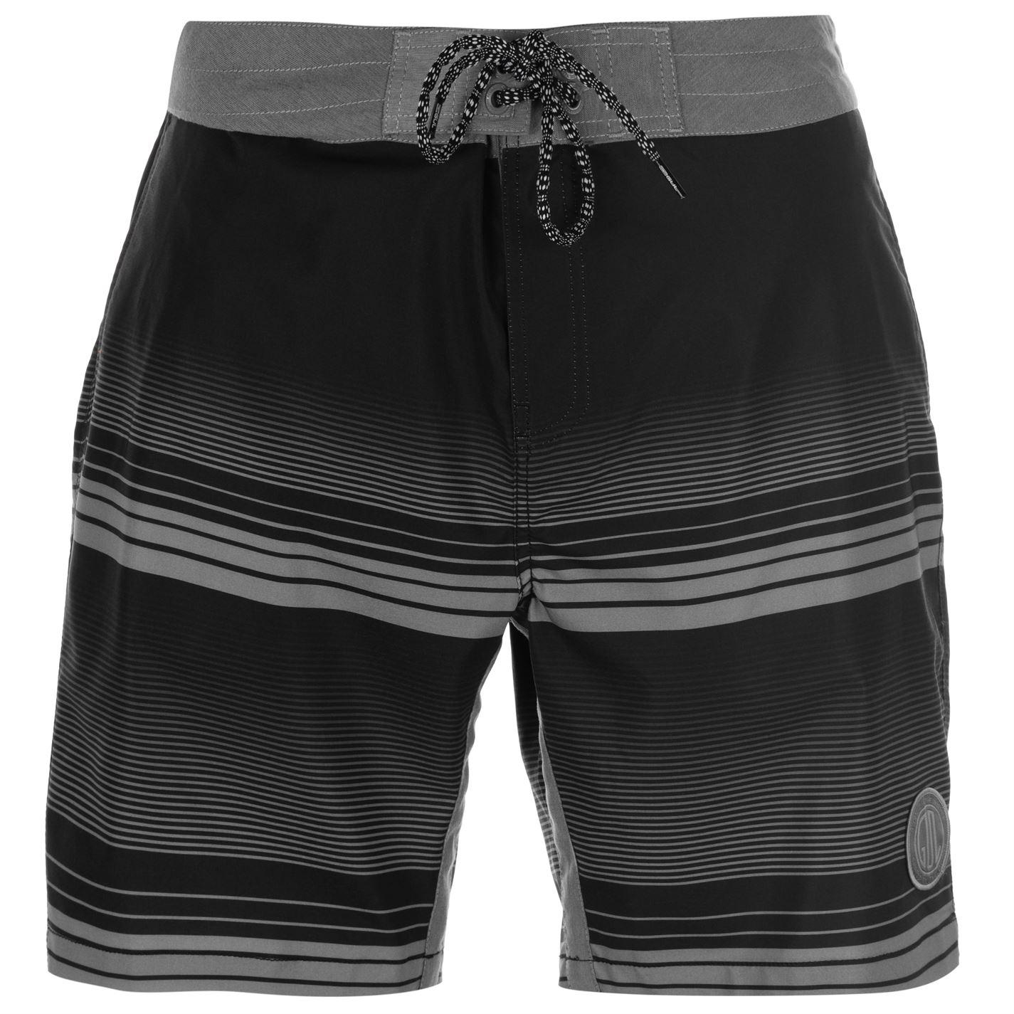 Mergi la Pantaloni scurti Gul Print Board pentru Barbati negru gri