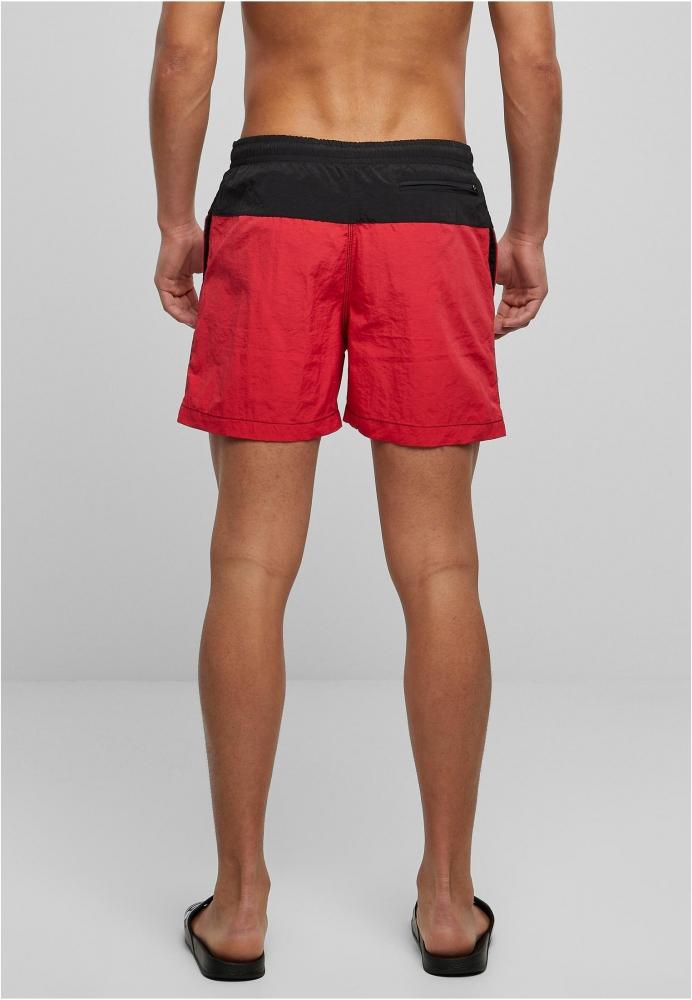 Pantaloni scurti inot negru-rosu Urban Classics