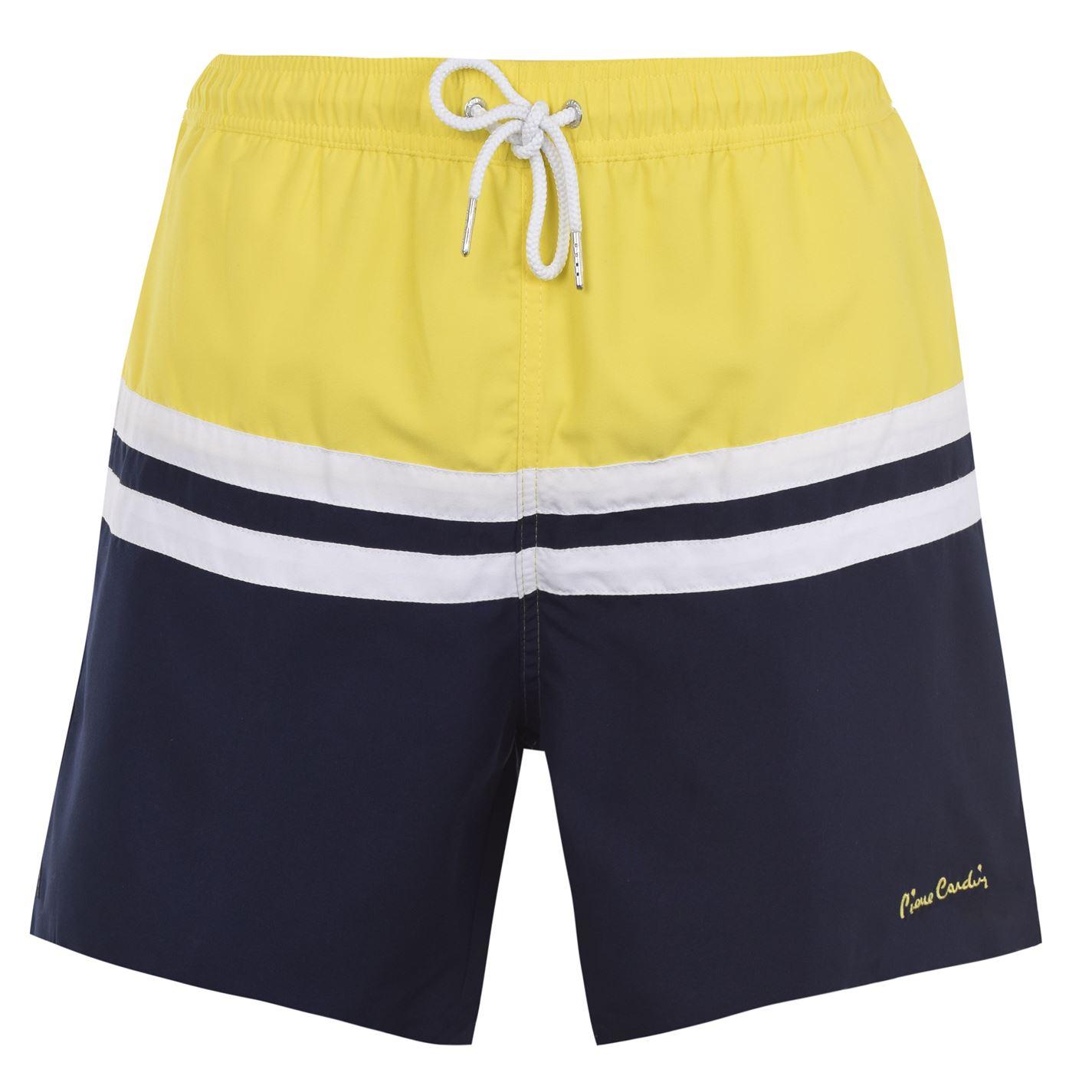 Mergi la Pantaloni scurti inot Pierre Cardin pentru Barbati galben bleumarin