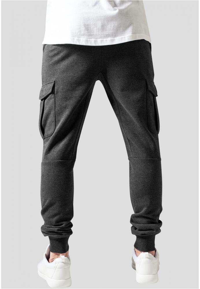 Pantaloni sport Fitted Cargo gri-carbune Urban Classics