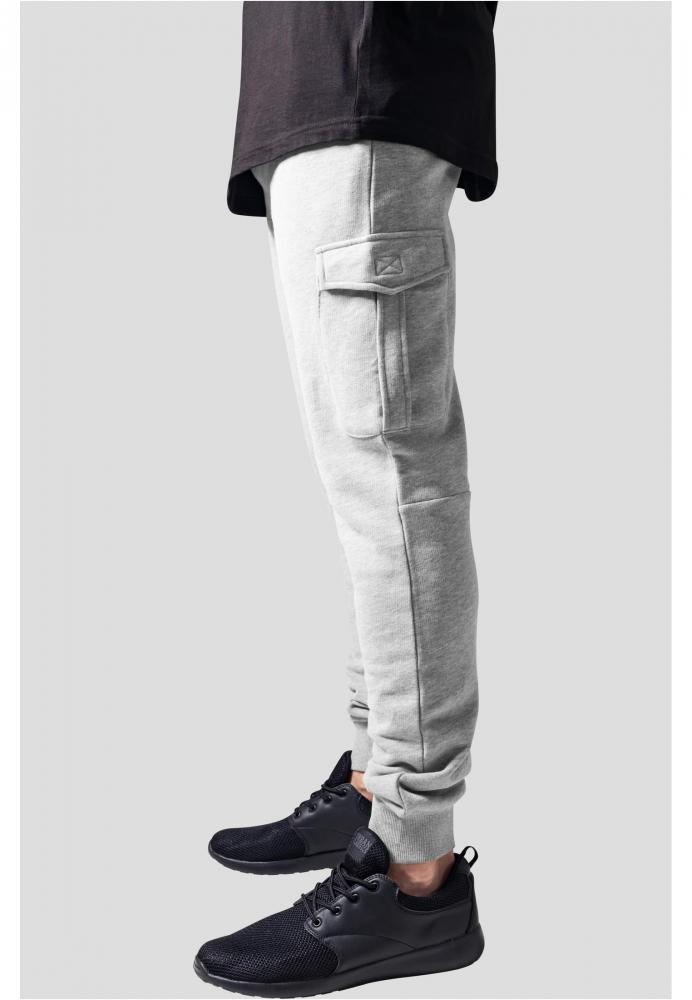 Pantaloni sport Fitted Cargo gri Urban Classics