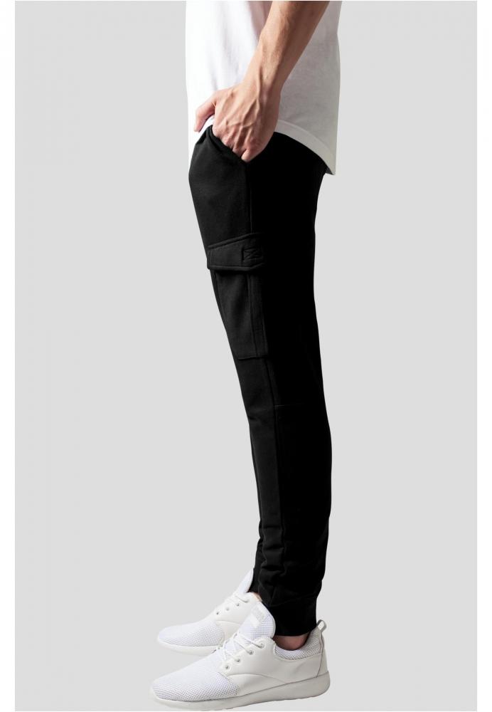 Pantaloni sport Fitted Cargo negru Urban Classics