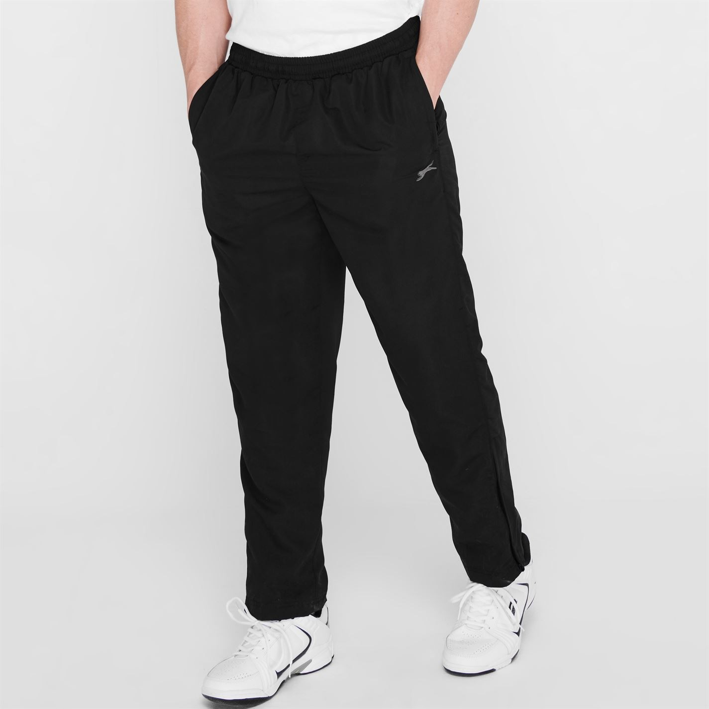 Pantaloni sport Slazenger fara mansete Woven pentru Barbati negru