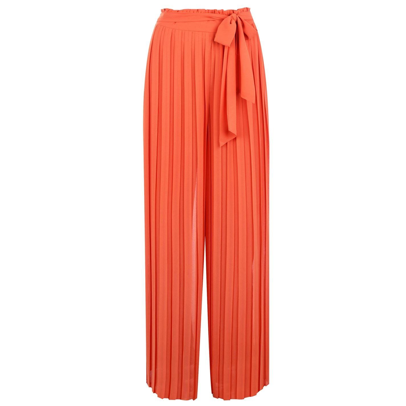 Pantaloni Tfnc Luana Pleated portocaliu alb