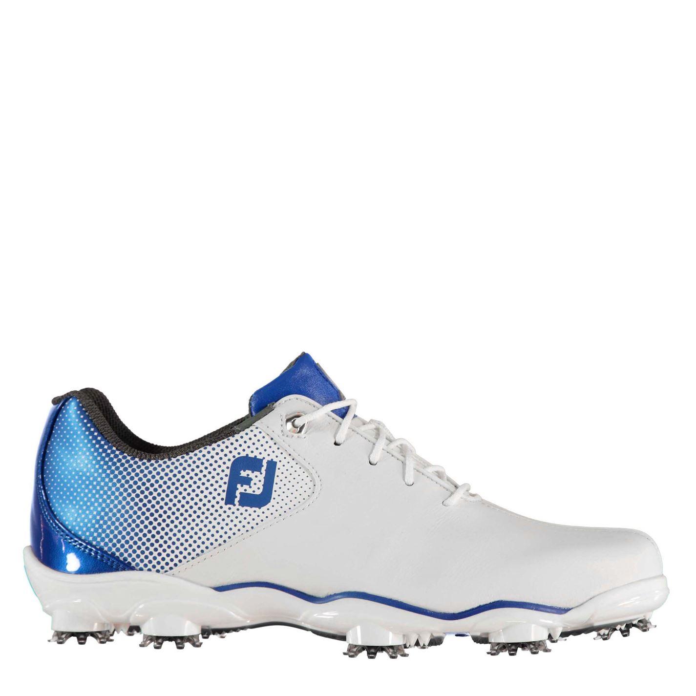 Pantofi de Golf Footjoy DNA Helix pentru Barbati alb albastru