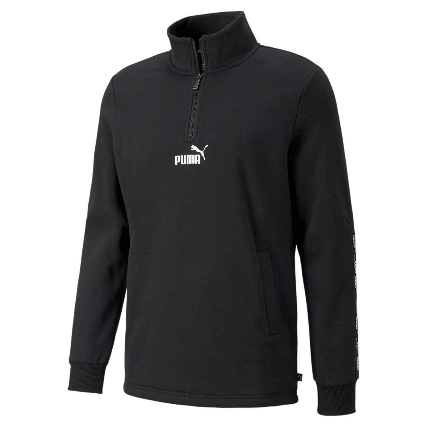 Puma fermoar Sweat negru