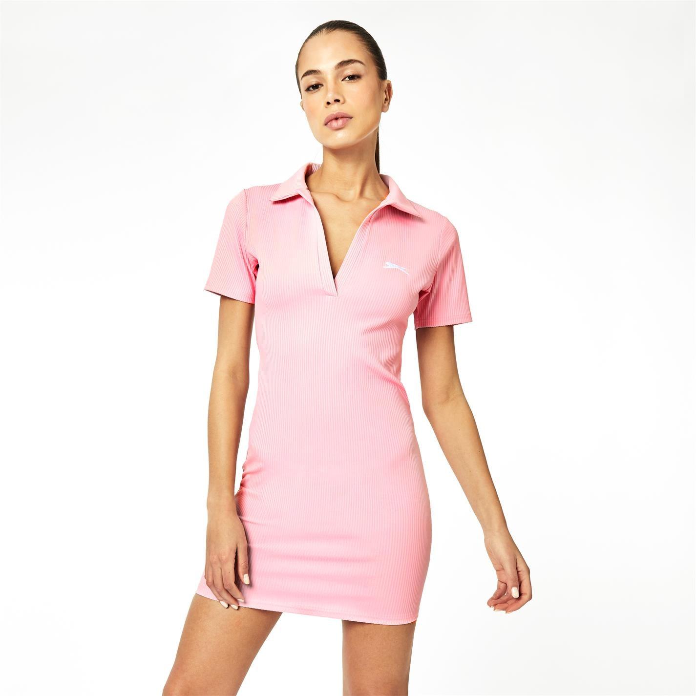 Mergi la Rochie Slazenger x Sophia & Cinzia Polo Bodycon Mini roz
