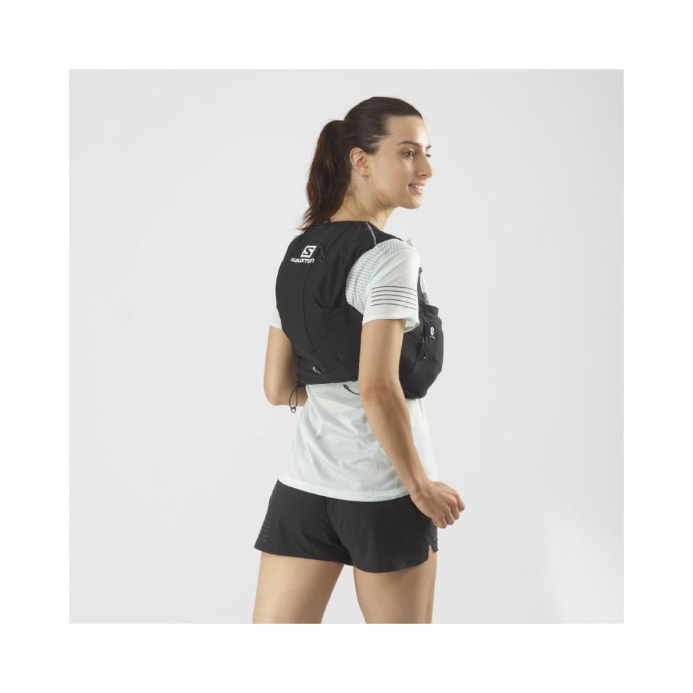 Rucsac Alergare Femei Salomon ADV SKIN 8 SET W Negru cu sistem de hidratare