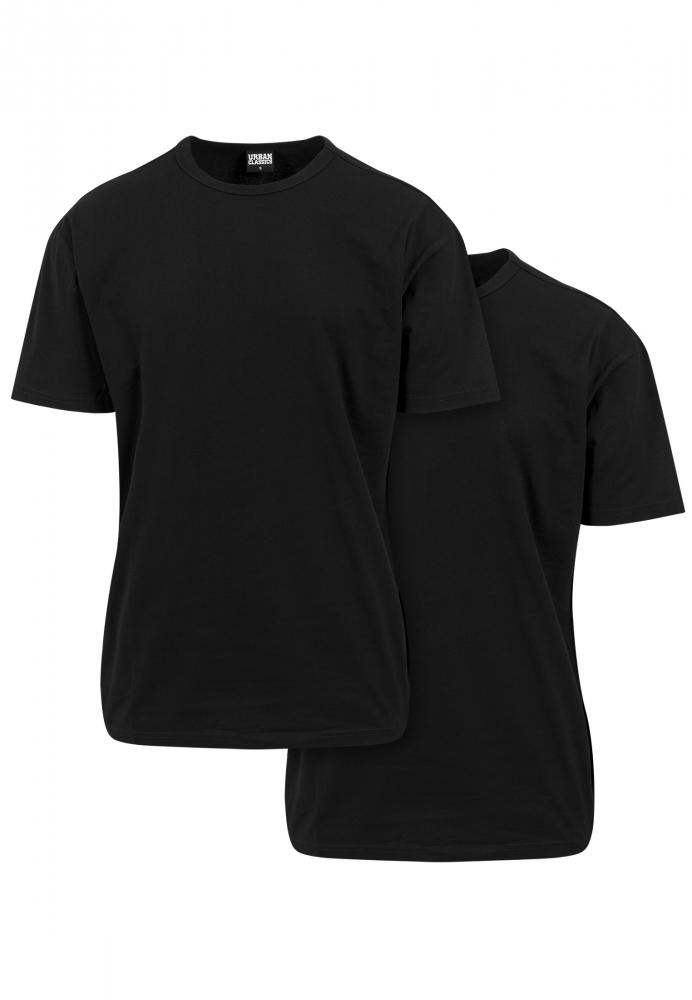 Set de 2 Tricou larg black+black Urban Classics negru