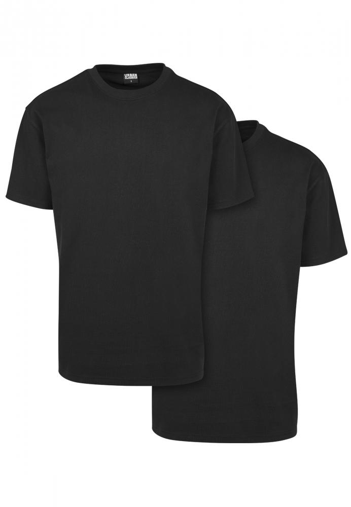 Set de 2 Tricou larg Heavy black+black Urban Classics negru