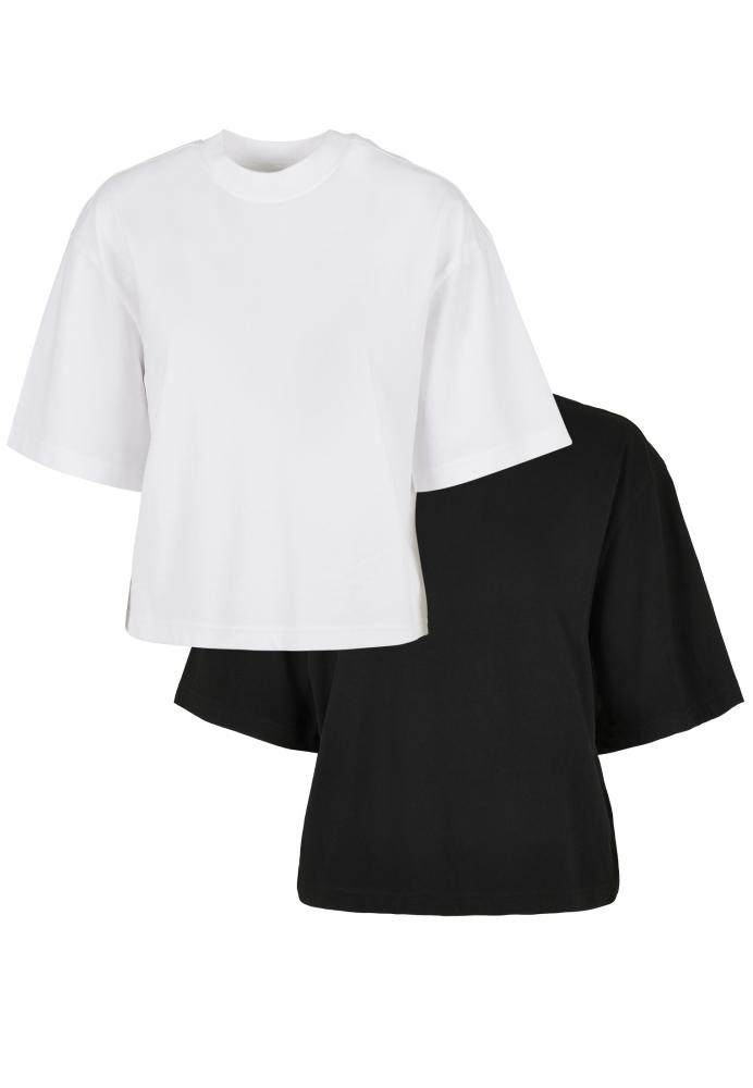 Mergi la Set de 2 Tricou larg Organic pentru Femei white+black Urban Classics alb negru