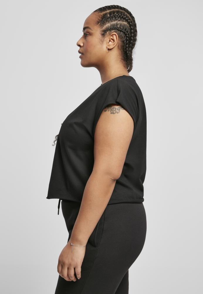 Set de 2 Tricou scurt Organic pentru Femei black+white Urban Classics negru alb