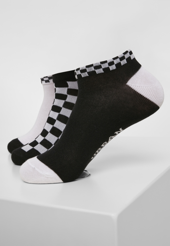 Mergi la Set de 3 Sneaker Sosete Checks negru-alb Urban Classics