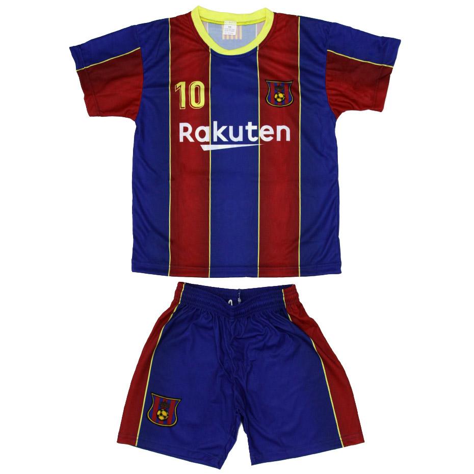 Mergi la Set fotbal For Replica Messi Barcelona visiniu-albastru 202021 pentru Copii