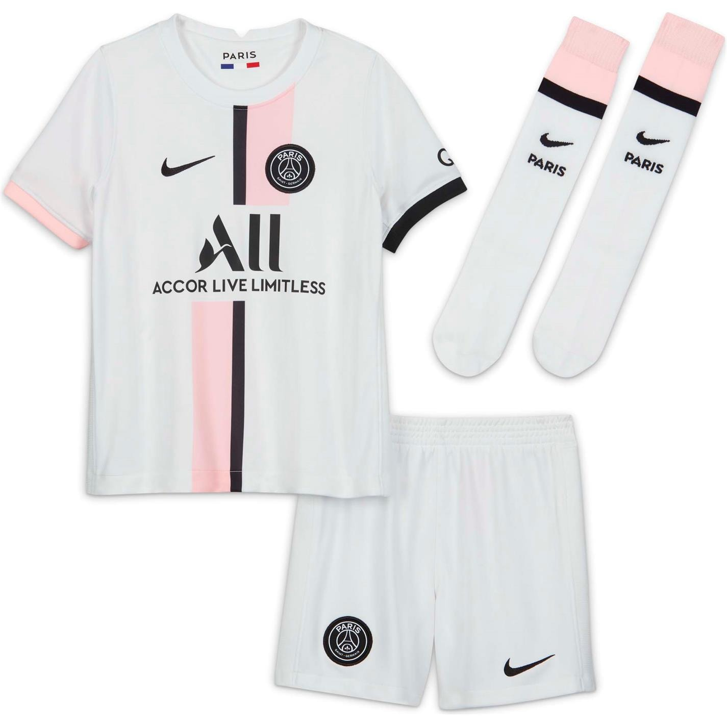 Set Nike Paris Saint Germain Away 2021 2022 alb