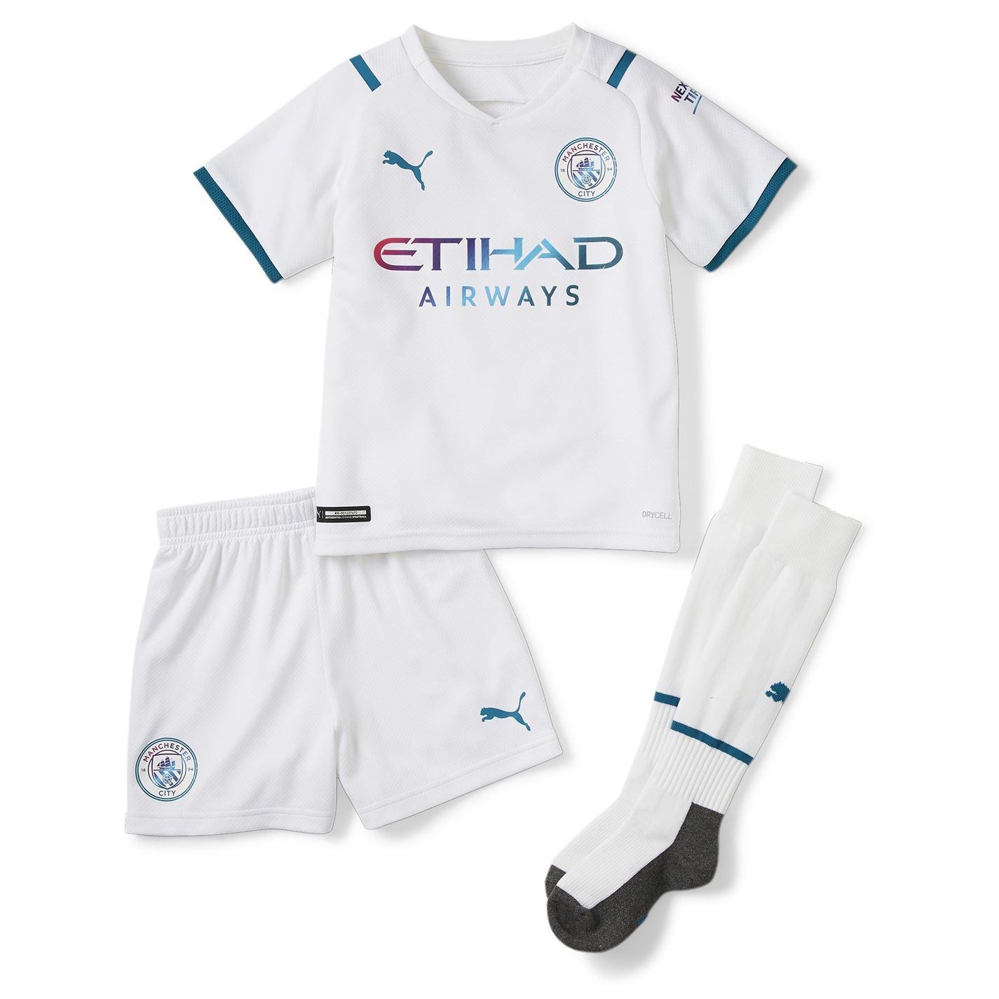 Set Puma Manchester City Away 2021 2022 alb