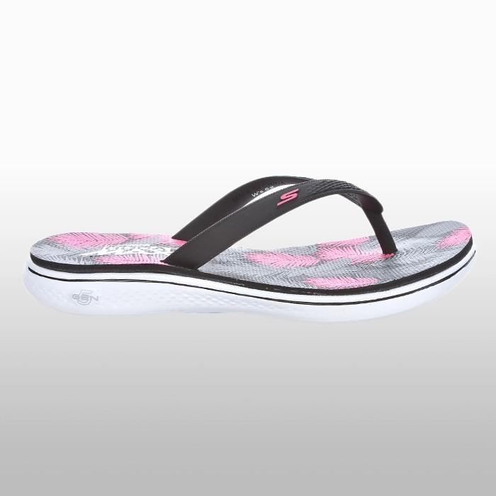 Papuci vara Skechers H2 Goga Lagoon Femei