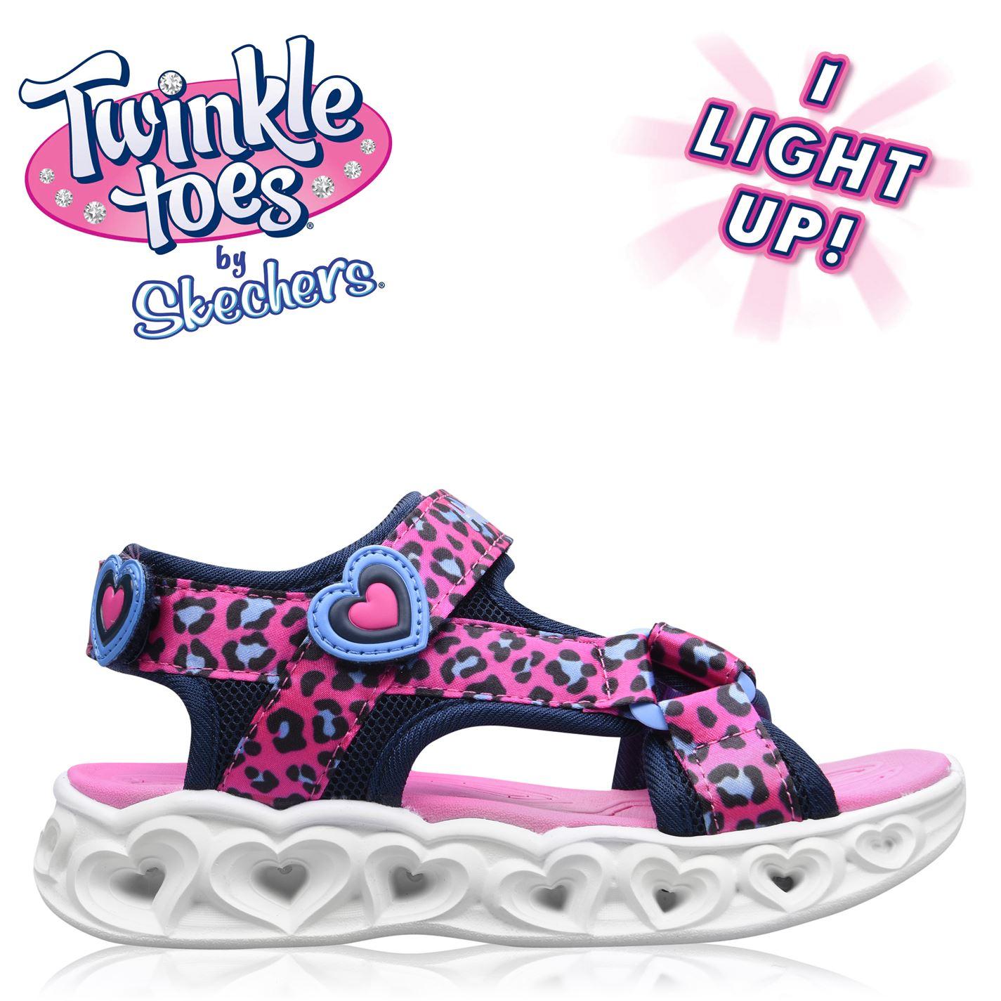 Sandale Skechers Savvy care se aprind Child pentru fete roz negru