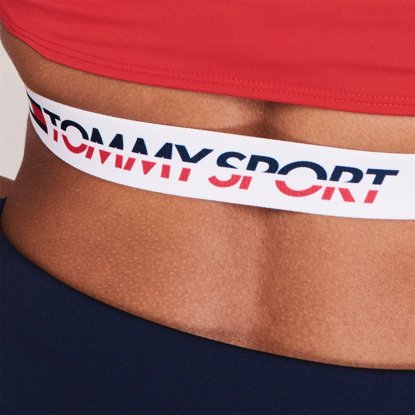 Top scurt Tommy Sport true rosu