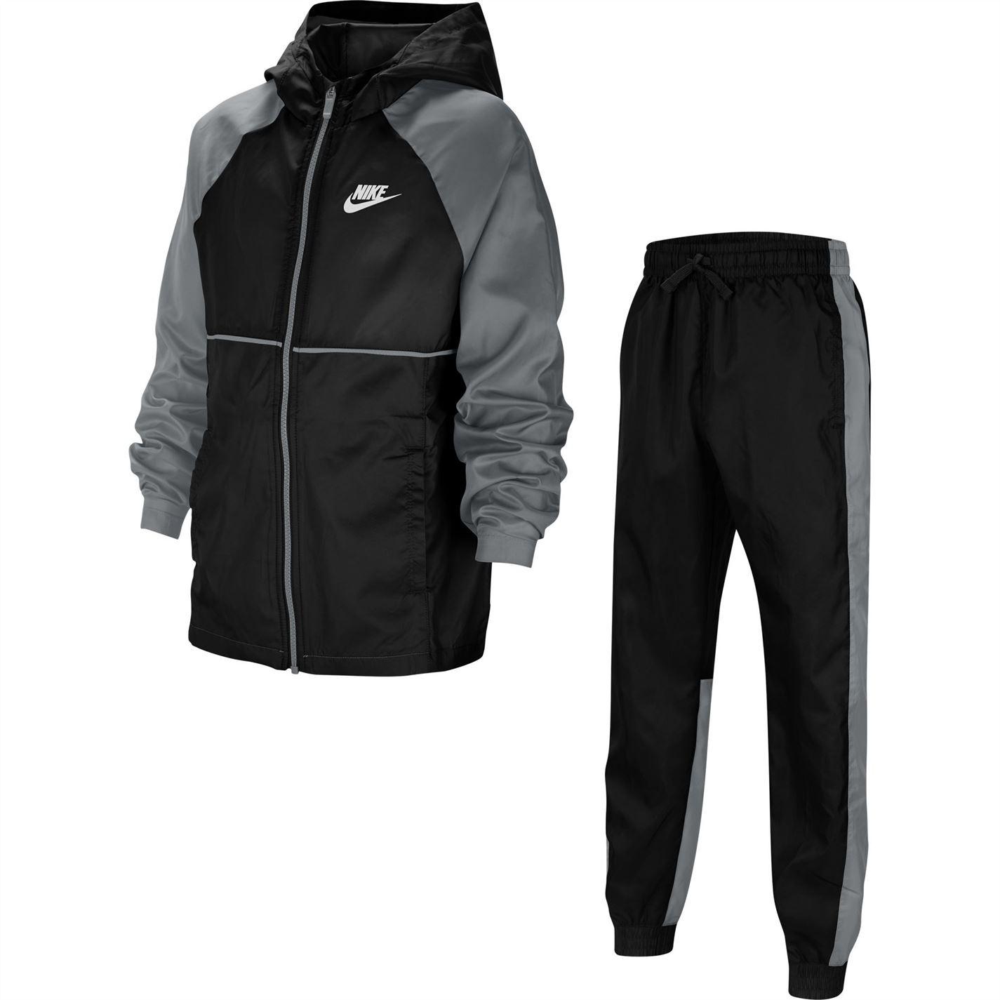 Mergi la Treninguri Nike Sportswear Big Woven pentru Copii negru gri alb