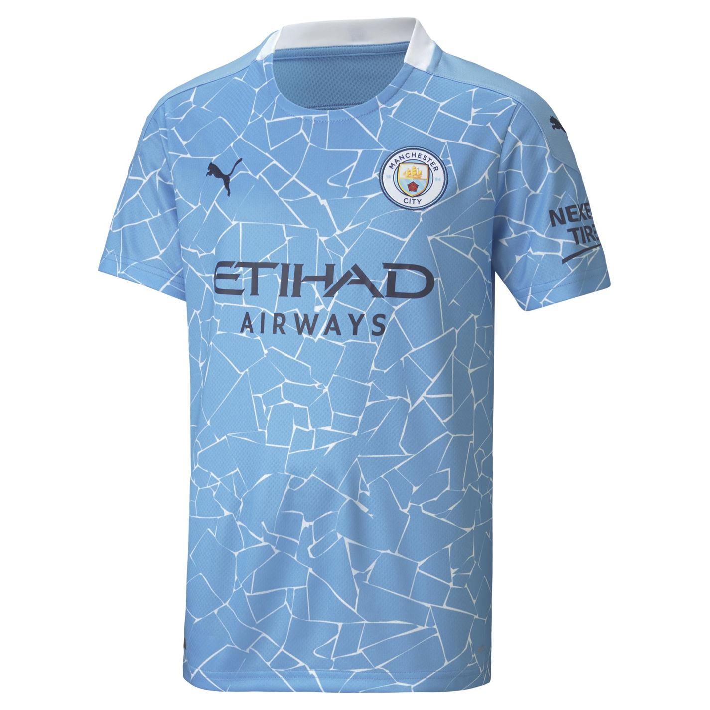Tricou Acasa Puma Manchester City Raheem Sterling 2020 2021 pentru copii albastru