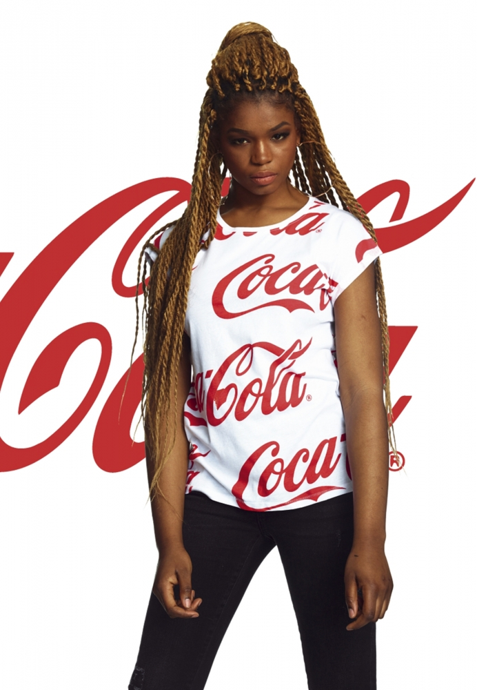 Mergi la Tricou Coca Cola AOP pentru Femei alb Merchcode