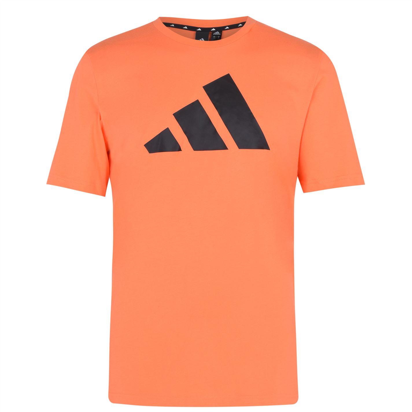 Mergi la Tricou cu imprimeu adidas Sportswear pentru Barbati true portocaliu