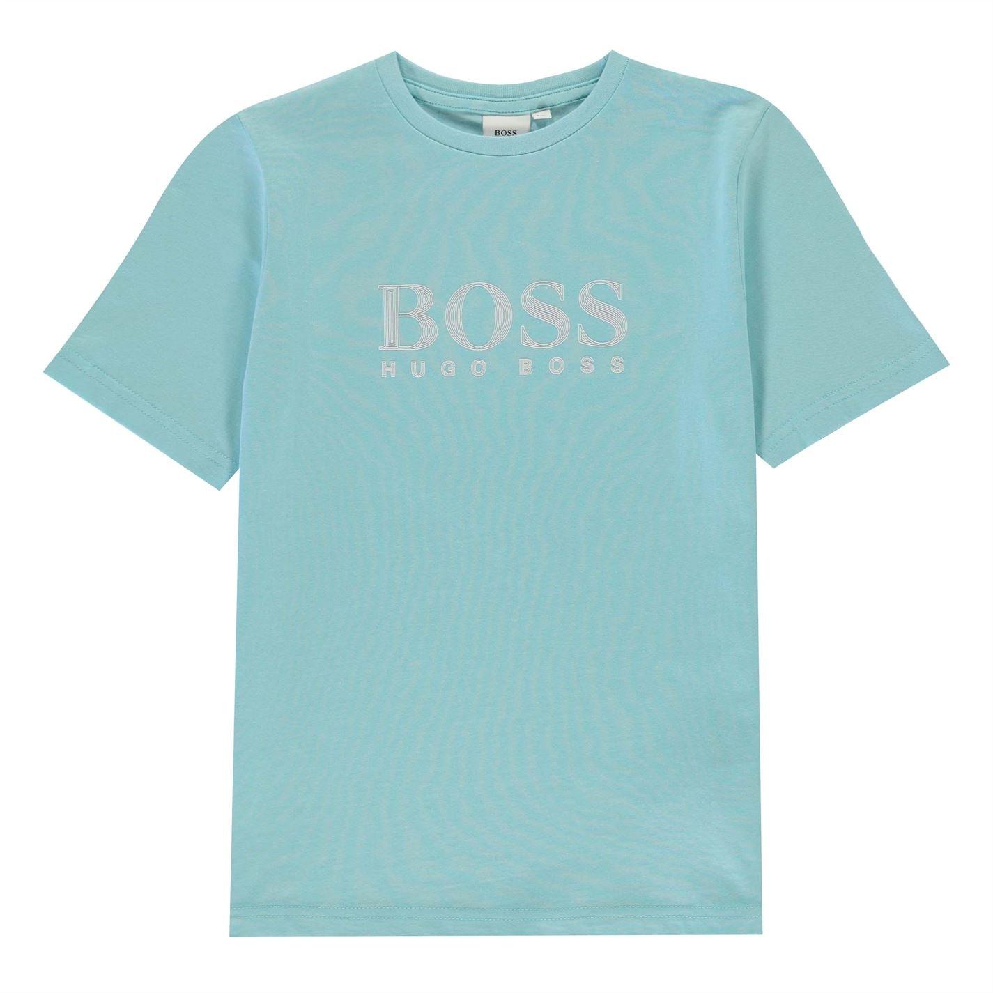 Tricou cu imprimeu Boss sea verde