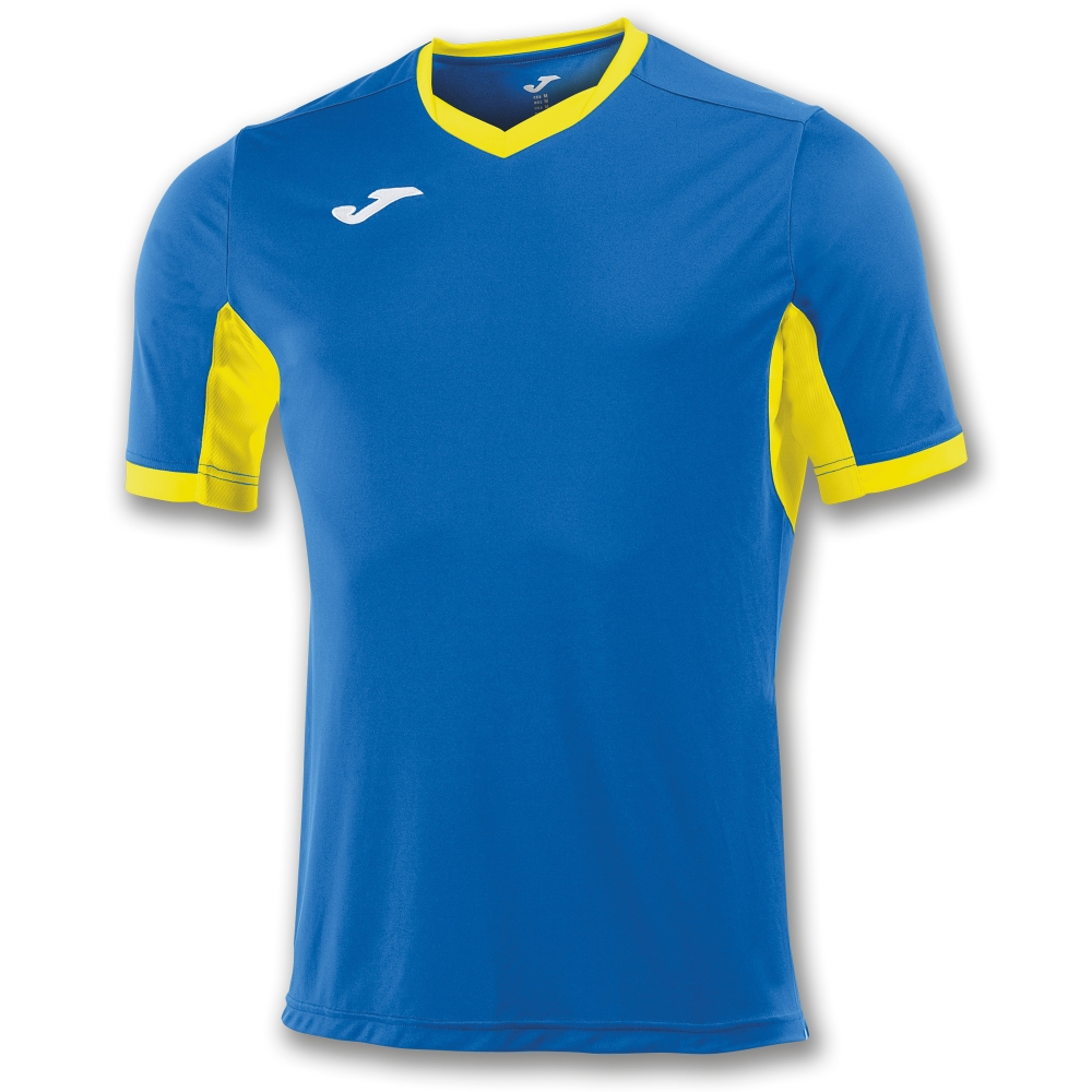 Tricou Joma Champion Iv Royal-galben cu maneca scurta albastru roial