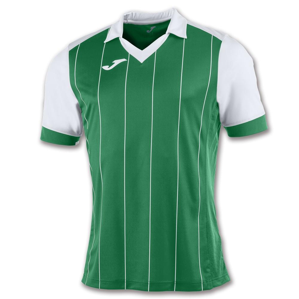 Tricou Joma Grada verde-alb cu maneca scurta