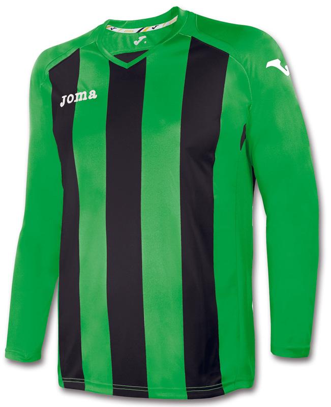 Tricou Joma Pisa 12 verde-negru cu maneca lunga