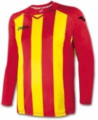 Tricou Joma Pisa 12 rosu-amarilla cu maneca lunga