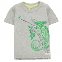 Mergi la Tricou Joules Glow Chameleon gri marl