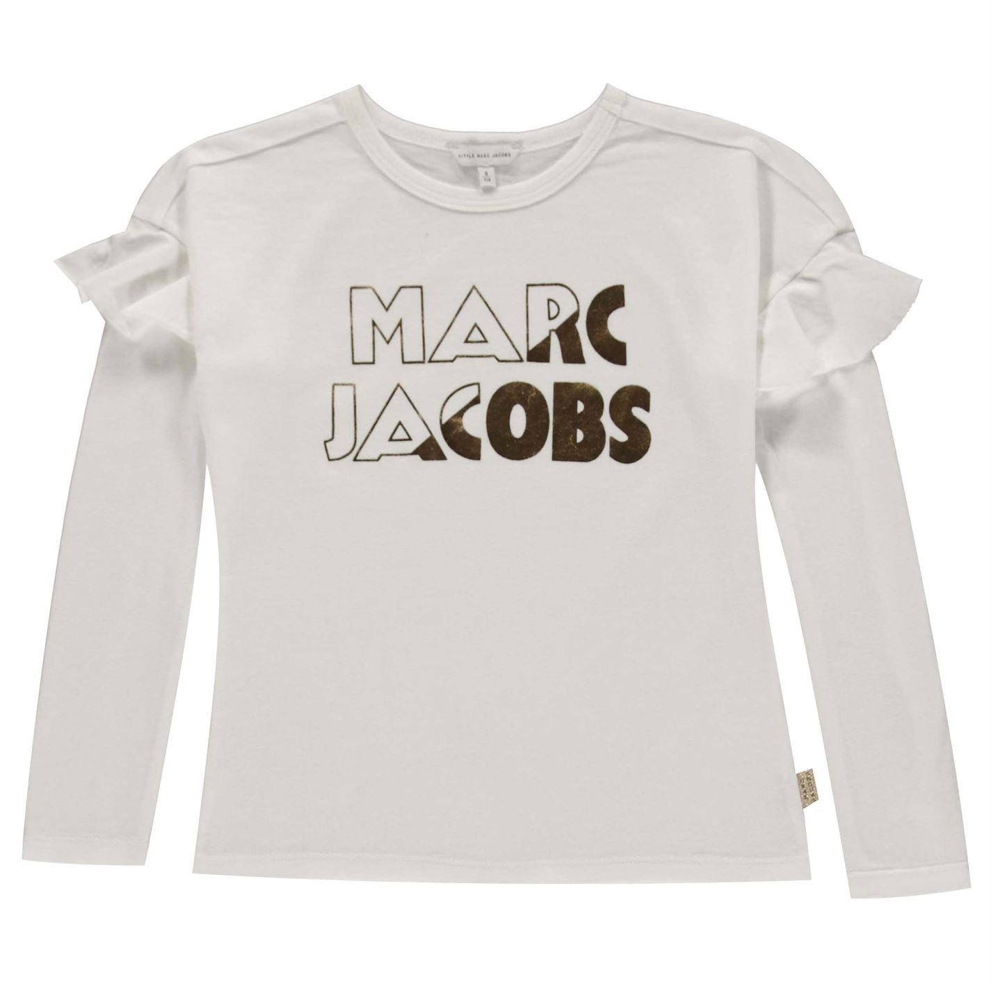 Tricou Marc Jacobs Logo Print pentru fete pentru Copii alb 10b